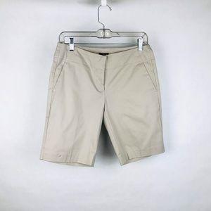 Ann Taylor Signature Bermuda Shorts Khaki Beige Co